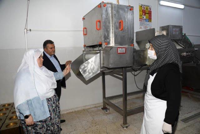 Eskişehir'in Mihalgazi Belediye Başkanı Akgül, Çubuk'ta turşu işletmelerini gezdi